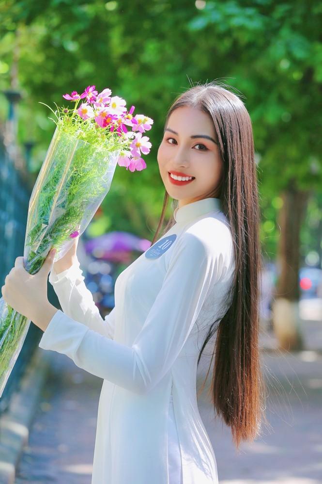 Hoa khôi Học viện Phụ nữ Việt Nam tinh khôi trong bộ ảnh áo dài - ảnh 14