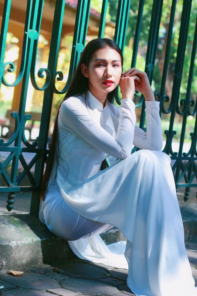 Hoa khôi Học viện Phụ nữ Việt Nam tinh khôi trong bộ ảnh áo dài - ảnh 16