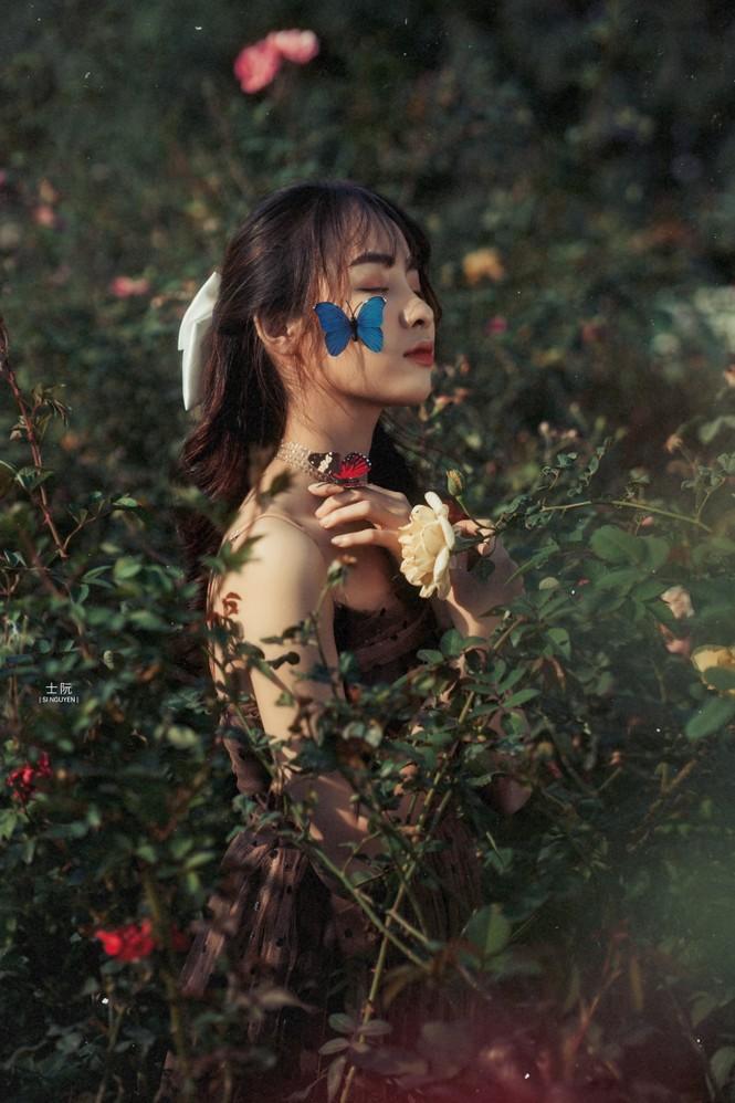 Nữ sinh Bách khoa hóa công chúa mơ màng giữa rừng hoa - ảnh 2