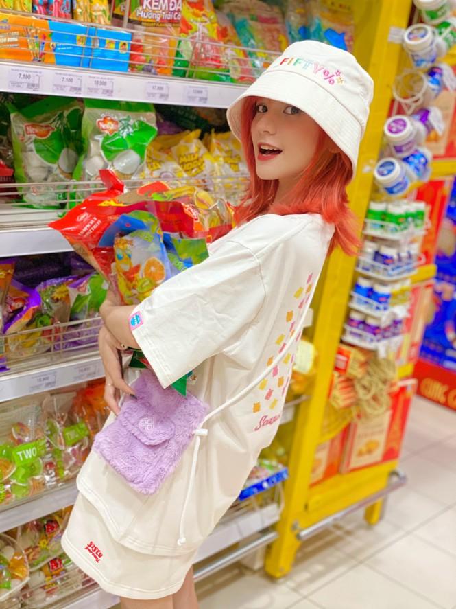 Ngắm nhìn vẻ đẹp ngọt ngào tựa kẹo bông của cô nàng An Giang Huỳnh Nhy - ảnh 7