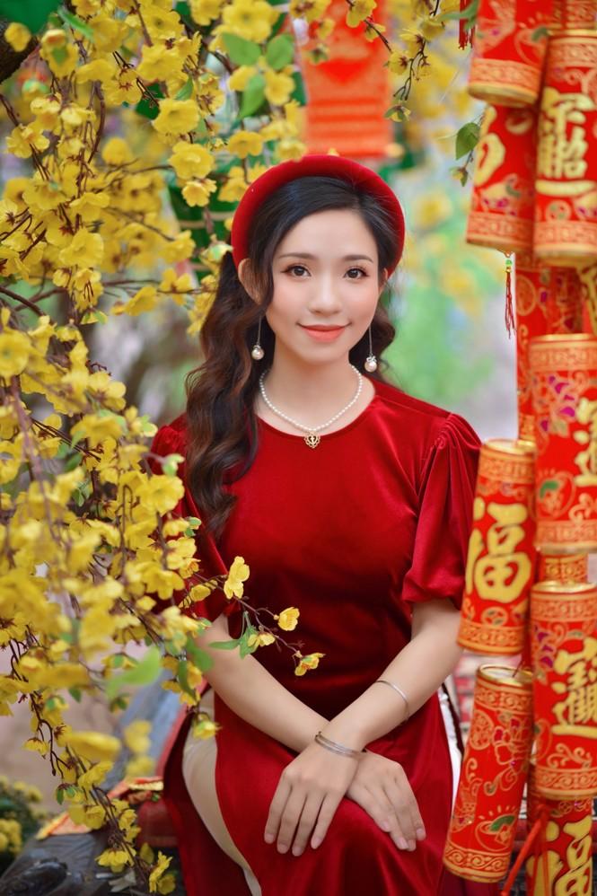 Á khôi Nghiêm Hoàng Diễm Anh hóa thân trong màu sắc hoa Đào - ảnh 8