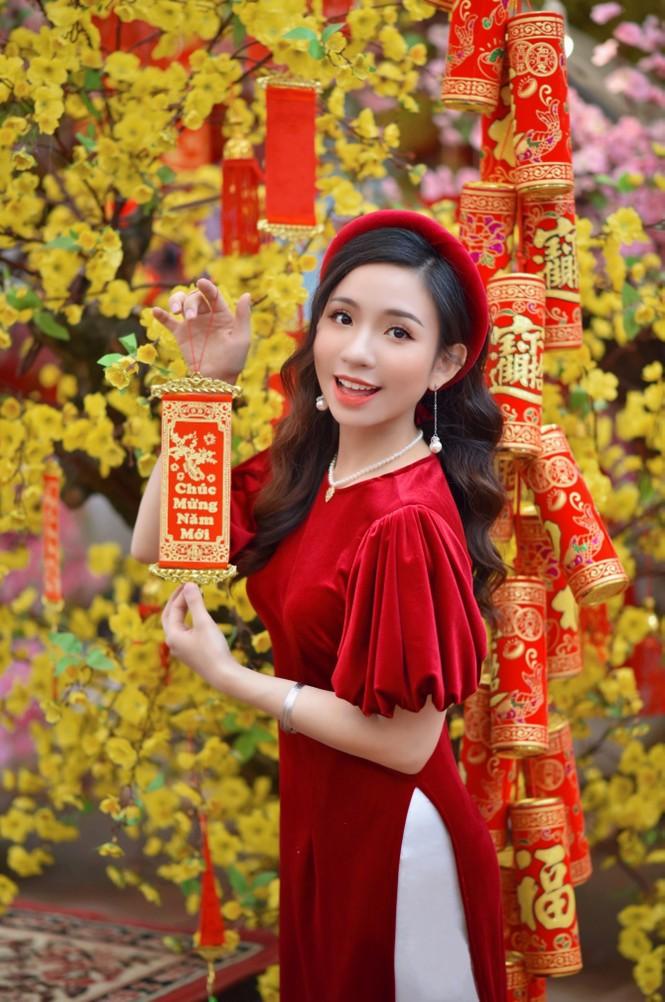 Á khôi Nghiêm Hoàng Diễm Anh hóa thân trong màu sắc hoa Đào - ảnh 3