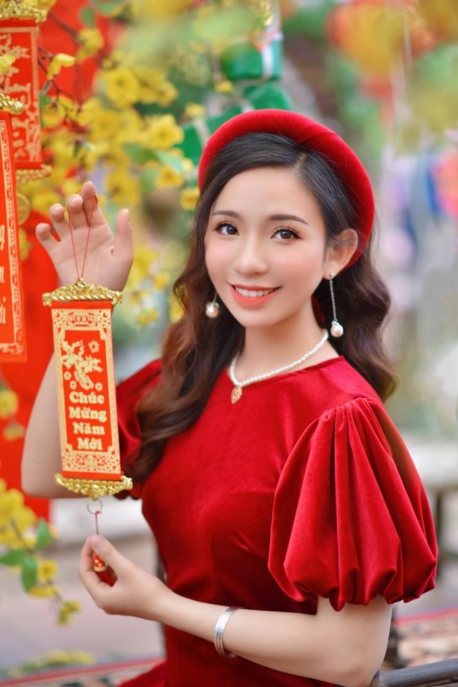Á khôi Nghiêm Hoàng Diễm Anh hóa thân trong màu sắc hoa Đào - ảnh 7