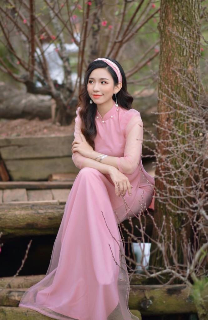 Á khôi Nghiêm Hoàng Diễm Anh hóa thân trong màu sắc hoa Đào - ảnh 9