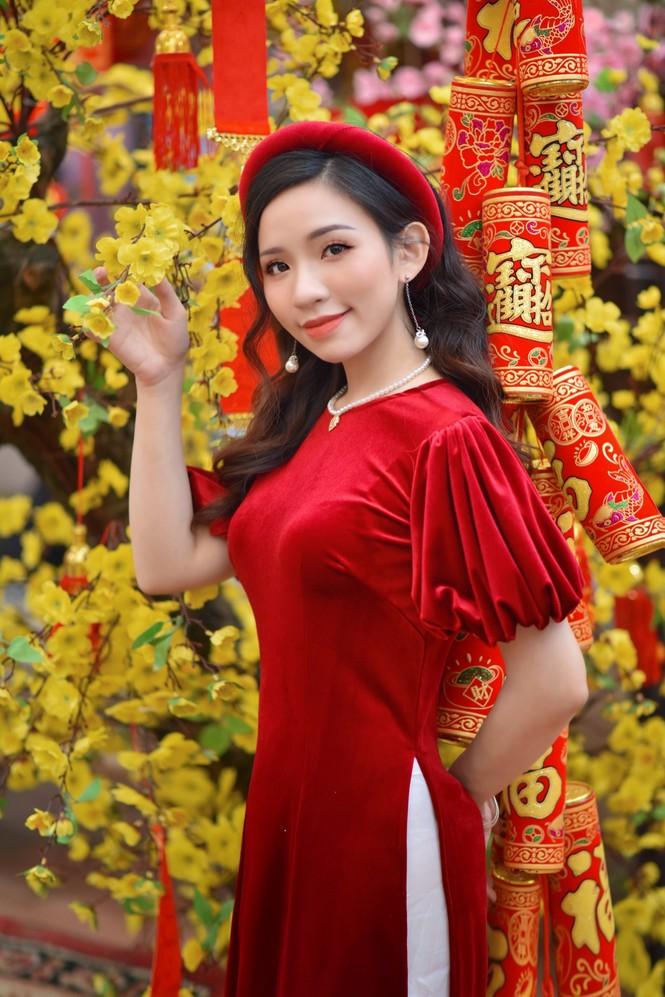 Á khôi Nghiêm Hoàng Diễm Anh hóa thân trong màu sắc hoa Đào - ảnh 5