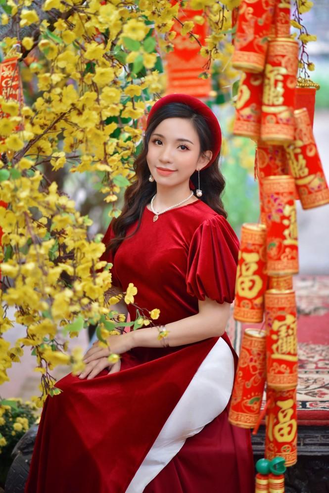 Á khôi Nghiêm Hoàng Diễm Anh hóa thân trong màu sắc hoa Đào - ảnh 4