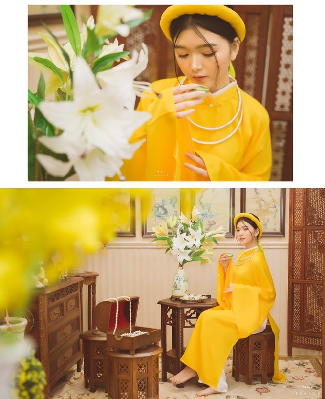 Nữ sinh thanh tao trong cổ phục Việt đón xuân - ảnh 7