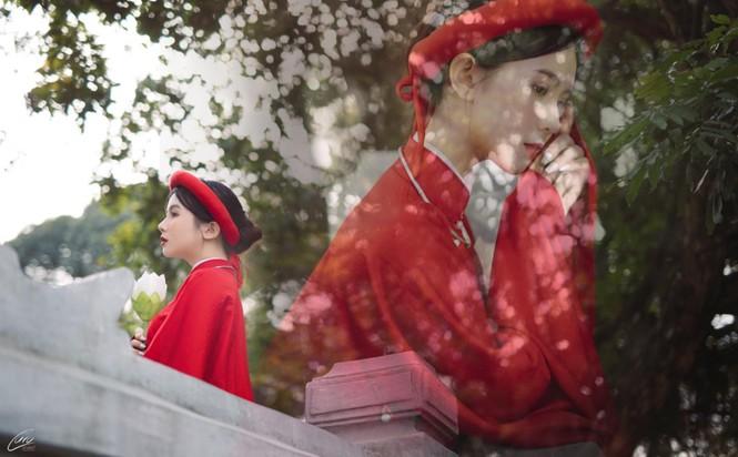 Nữ sinh điện ảnh gây ấn tượng bởi bộ ảnh Tết bên áo Tấc Việt phục - ảnh 4
