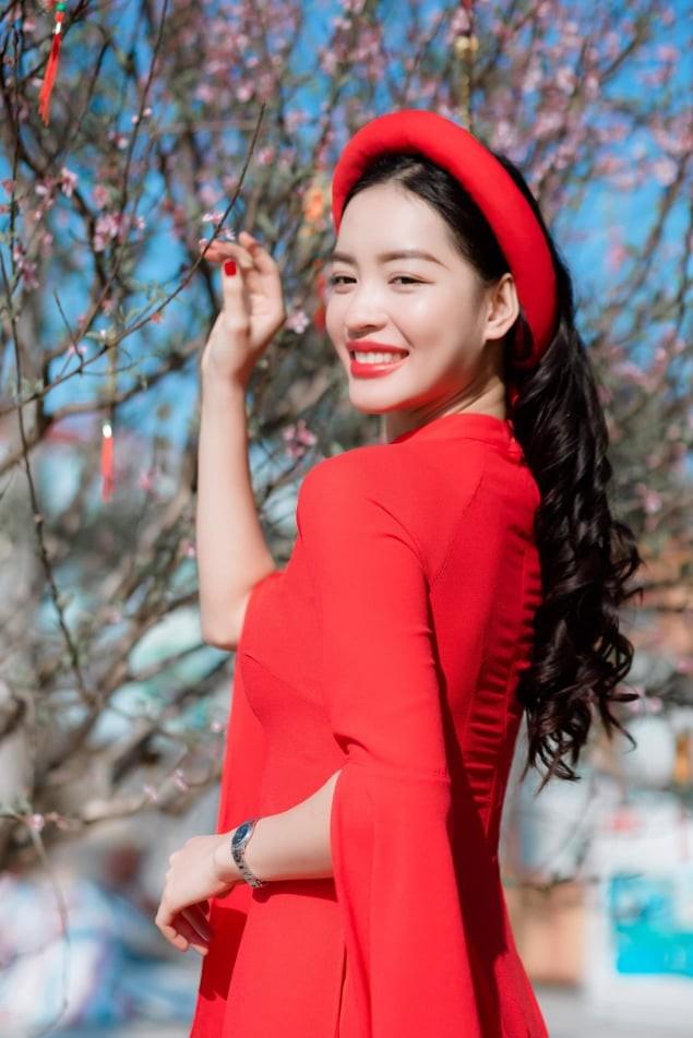 Nữ sinh điện ảnh xinh đẹp bên tà áo dài cách tân ngày Tết - ảnh 7