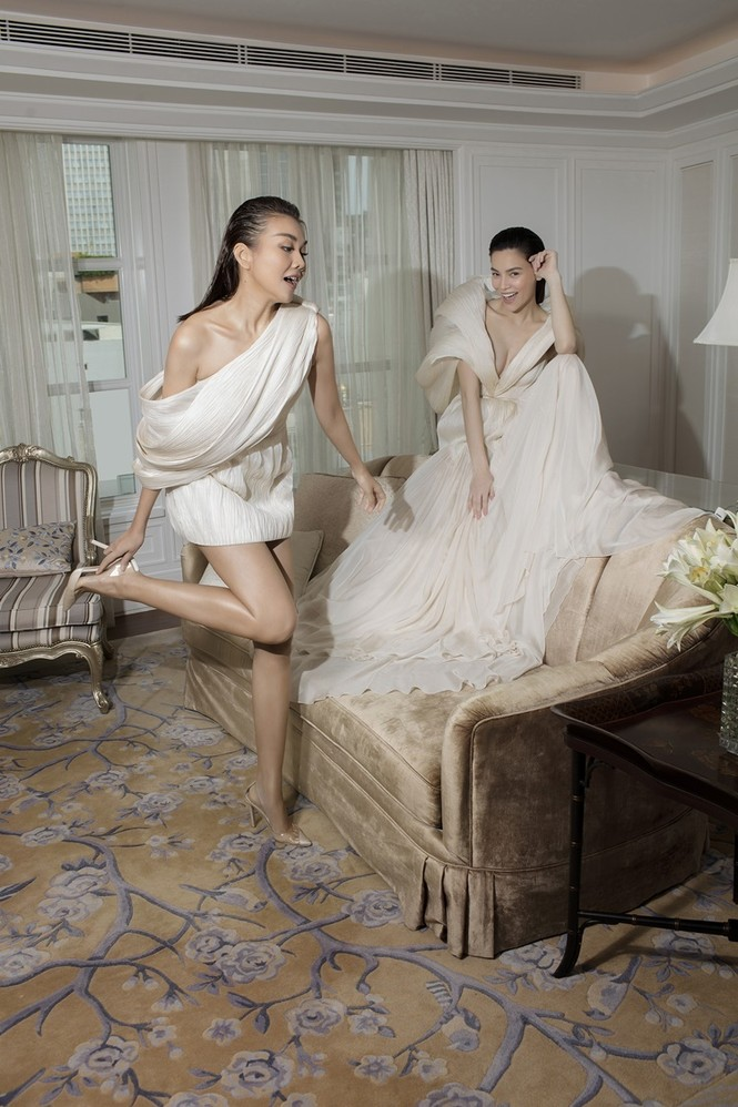 Hà Hồ mang bụng bầu chụp ảnh thời trang cho tạp chí danh giá Vogue (Pháp) - ảnh 1