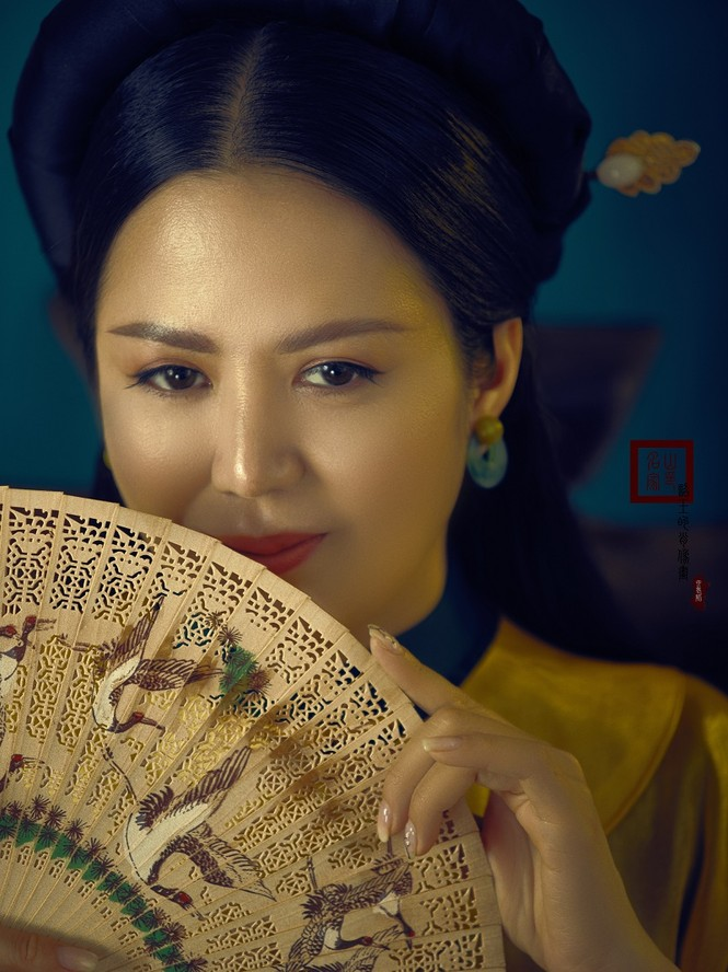 Đinh Hiền Anh hóa mỹ nhân thời xưa đẹp mơ màng trong bộ ảnh đón tuổi mới - ảnh 5