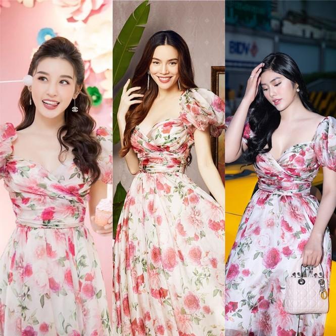"""Được bốn mỹ nhân Việt """"đụng hàng"""", chiếc váy hoa này có gì đặc biệt đến thế? - ảnh 1"""