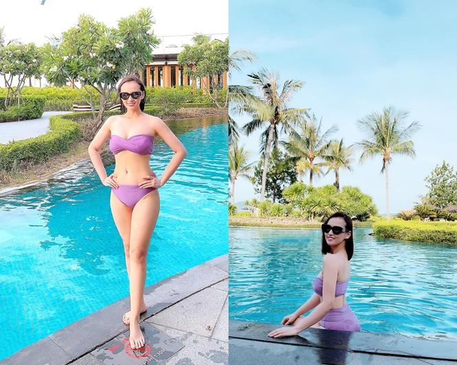 Diện bikini quá kiệm vải, Lã Thanh Huyền bị hiểu lầm là quên mặc đồ bơi do