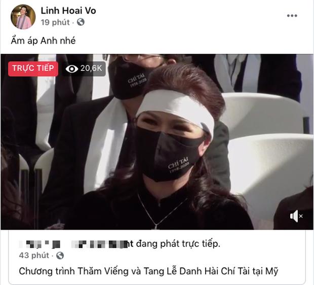Ở Việt Nam, nghệ sĩ Hoài Linh vẫn đau đáu dõi theo tang lễ của Chí Tài bên đất Mỹ - ảnh 1