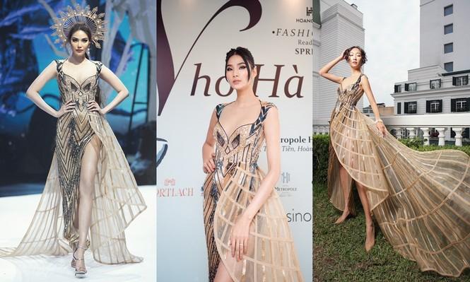 Chiếc váy này có gì đặc biệt mà ba mỹ nhân Lan Khuê, Hoàng Thùy, Thanh Khoa đua nhau mặc? - ảnh 5