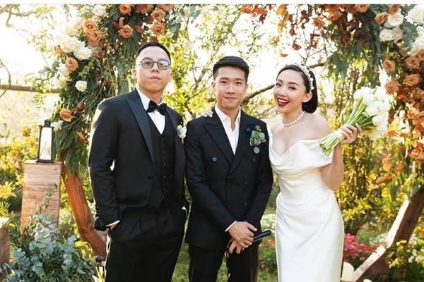 Kỷ niệm 1 năm kết hôn, Tóc Tiên mặc lại váy cưới cũ khoe khéo vòng 1 căng đầy - ảnh 3