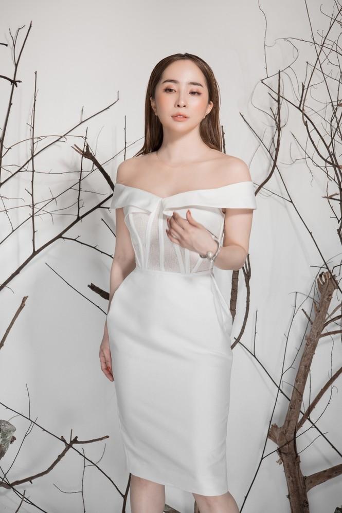 Giảm cân thành công, Quỳnh Nga khoe eo con kiến gợi cảm cùng sắc trắng - ảnh 6