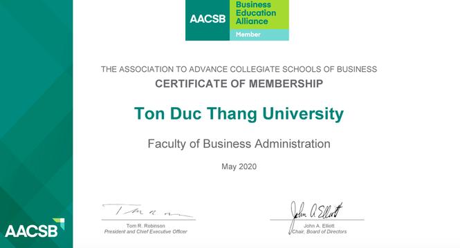 Khoa Quản trị Kinh doanh, trường ĐH Tôn Đức Thắng trở thành viên của AACSB - ảnh 1