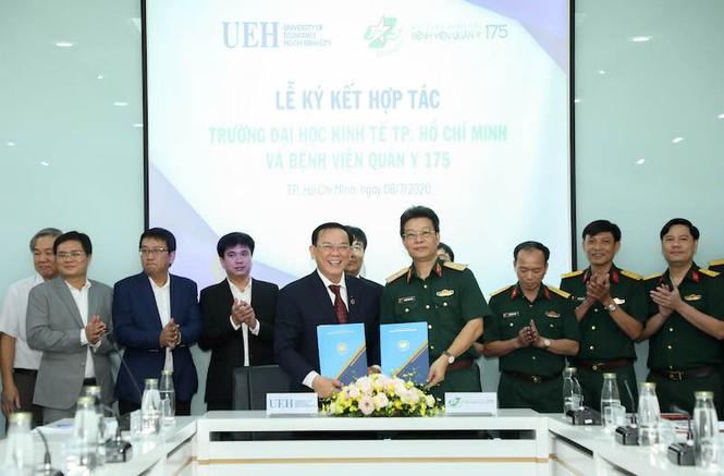 Trường ĐH Kinh tế TP. HCM và Bệnh viện Quân y 175 ký kết hợp tác toàn diện - ảnh 1