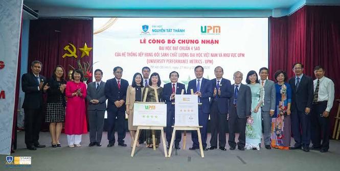 Trường ĐH Nguyễn Tất Thành đón nhận chuẩn 4 sao UPM - ảnh 1