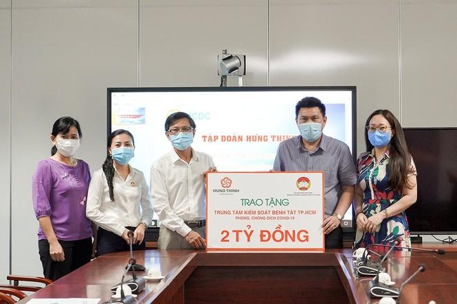 Tập đoàn Hưng Thịnh tặng 2 tỷ đồng cho Trung tâm Kiểm soát bệnh tật TPHCM  - ảnh 1