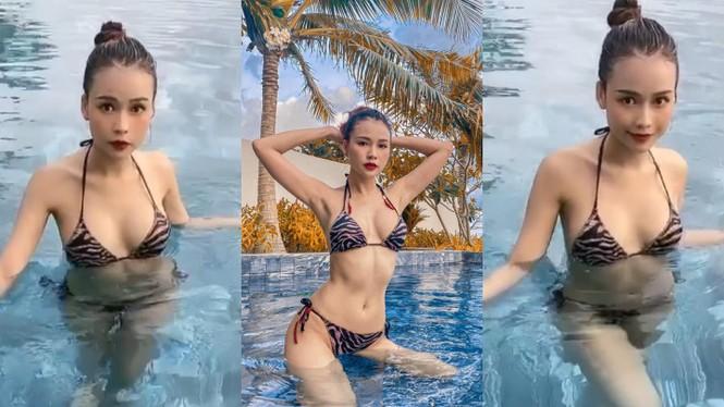 Lần hiếm hoi hotgirl Sam diện bikini khoe vòng 1 và đường cong hình thể gợi cảm - ảnh 2