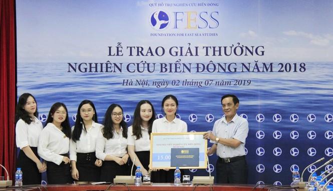 Báo Tiền Phong đạt giải xuất sắc viết về biển Đông - ảnh 1