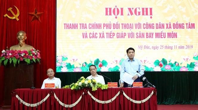 Thanh tra Chính phủ, Chủ tịch Hà Nội đối thoại người dân xã Đồng Tâm - ảnh 1