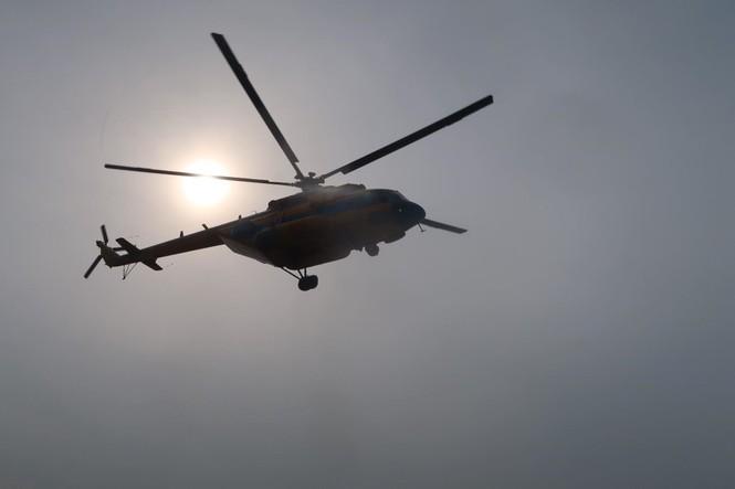 Lần đầu tiên trực thăng đáp xuống nóc bệnh viện Quân Y 175 - ảnh 1