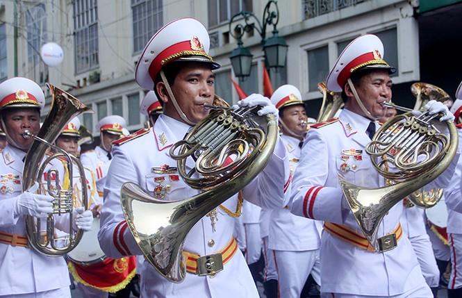 Oai phong khối Quân nhạc trong ngày Tết Độc lập - ảnh 6