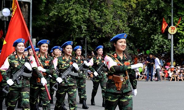 Rạng rỡ nữ chiến sỹ Quân y trong lễ diễu binh - ảnh 2
