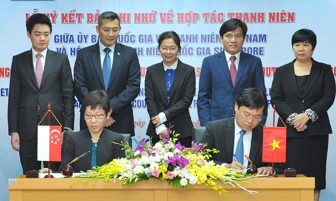 Nhiều kế hoạch quan trọng về thanh niên được Việt Nam – Singapore ký kết - ảnh 1