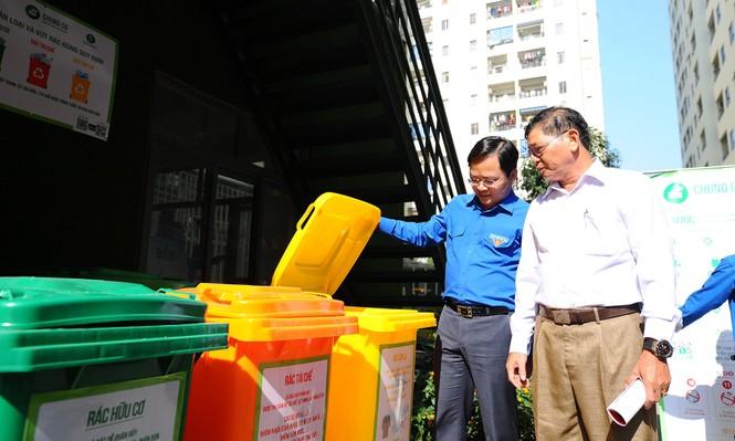 T.Ư Đoàn triển khai mô hình chợ dân sinh, chung cư hạn chế rác thải nhựa - ảnh 9