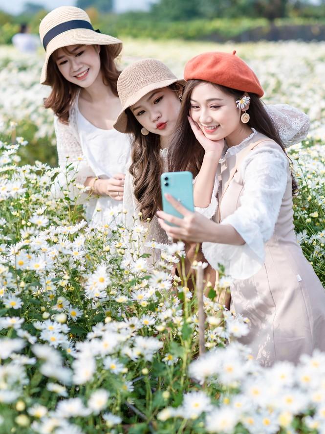 Giới trẻ Hà thành khoe sắc bên vườn hoa cúc họa mi - ảnh 4