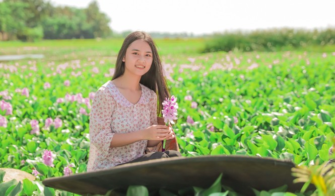 Nữ sinh xứ Nghệ 'đốn tim' với hình ảnh thôn nữ - ảnh 2