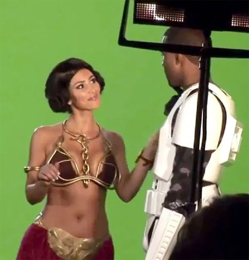 Kanye and Kim during the filming of Alligator Boots in 2008