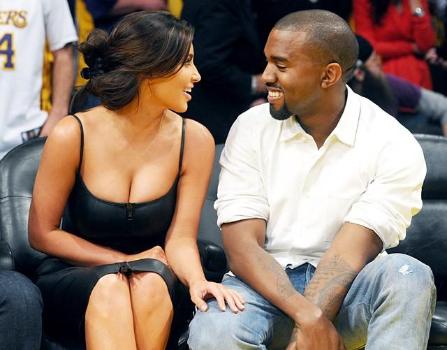 Kim-Kanye trong những buổi đầu hẹn hò.