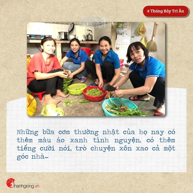 Tháng Bảy tri ân: Những bữa cơm cùng màu áo xanh nghĩa tình - ảnh 3