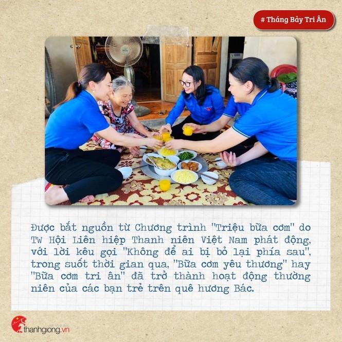 Tháng Bảy tri ân: Những bữa cơm cùng màu áo xanh nghĩa tình - ảnh 2