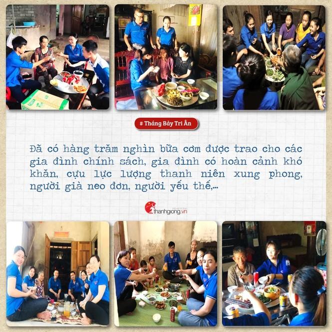 Tháng Bảy tri ân: Những bữa cơm cùng màu áo xanh nghĩa tình - ảnh 5