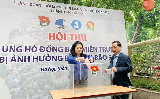 Tuổi trẻ Thủ đô ủng hộ nguồn lực, hỗ trợ đồng bào miền Trung - ảnh 3