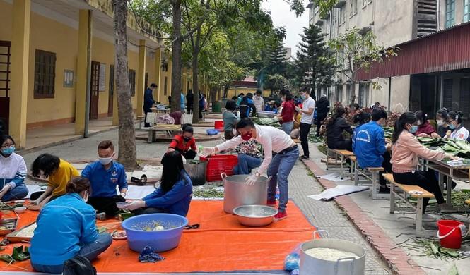 Hàng nghìn bánh chưng xanh gửi người dân và các lực lượng phòng chống dịch COVID-19 - ảnh 5