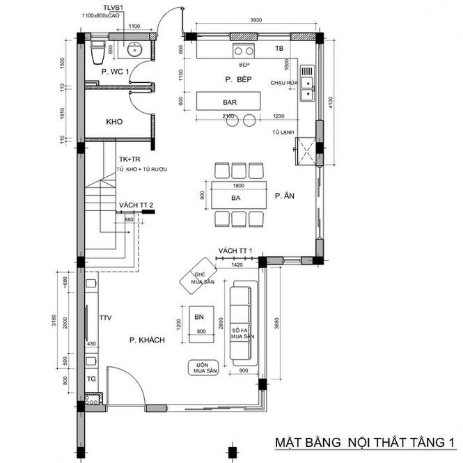 Nội thất biệt thự song lập 3 tầng sang trọng gần 300m2 - ảnh 4