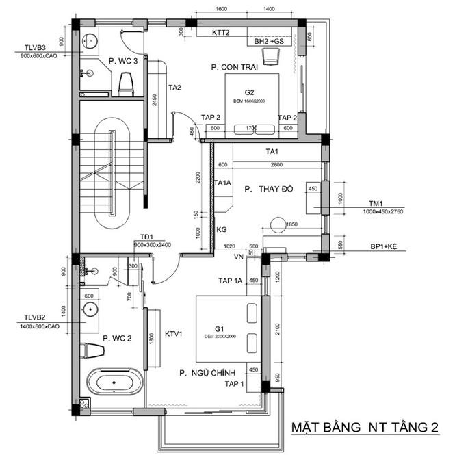 Nội thất biệt thự song lập 3 tầng sang trọng gần 300m2 - ảnh 5