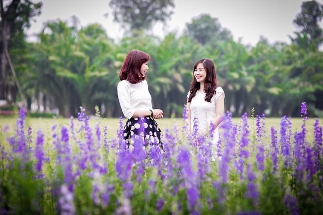 Công viên rực rỡ hoa xuân ở vùng ven Hà Nội - ảnh 8