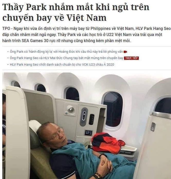 Thầy Park trên máy bay: Ai 'chế' tít báo Tiền Phong, bêu xấu trên mạng xã hội? - ảnh 2
