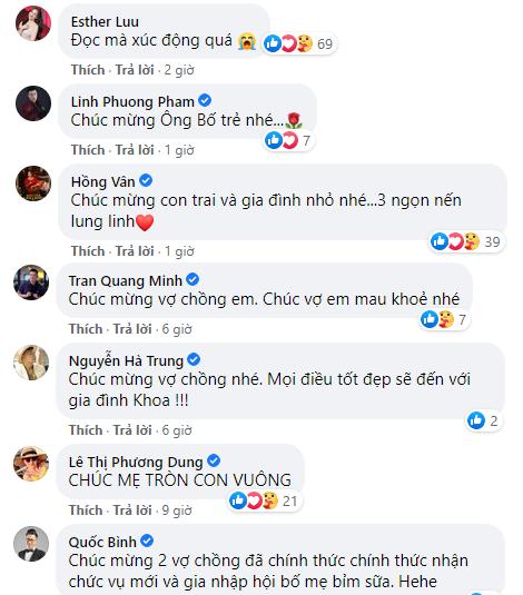 Dàn sao Việt chúc mừng vợ chồng Mạc Văn Khoa đón con gái đầu lòng  - ảnh 2
