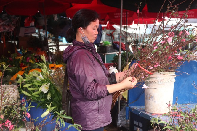 Đào Nhật Tân nở sớm, tràn ngập chợ hoa đón Tết Dương lịch  - ảnh 2