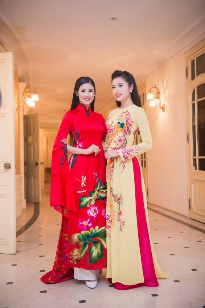 Hoa hậu Ngọc Hân hội ngộ Á hậu Huyền My tại Hà Nội - ảnh 13