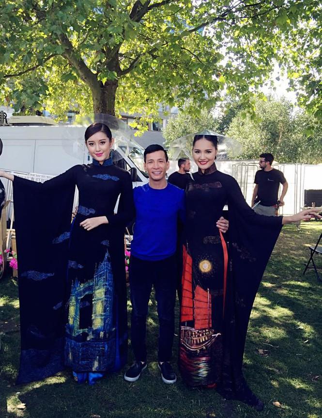 Huyền My, Hương Giang 'đọ sắc' với áo dài ở London - ảnh 6